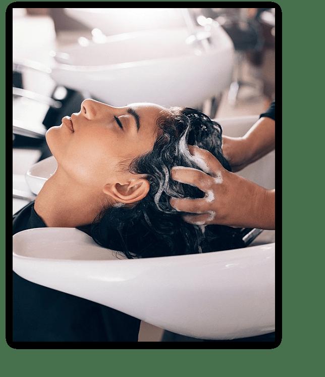 sink hair wash