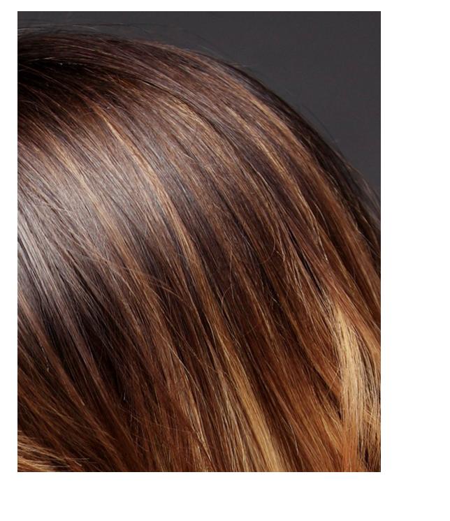 Brow woman hair