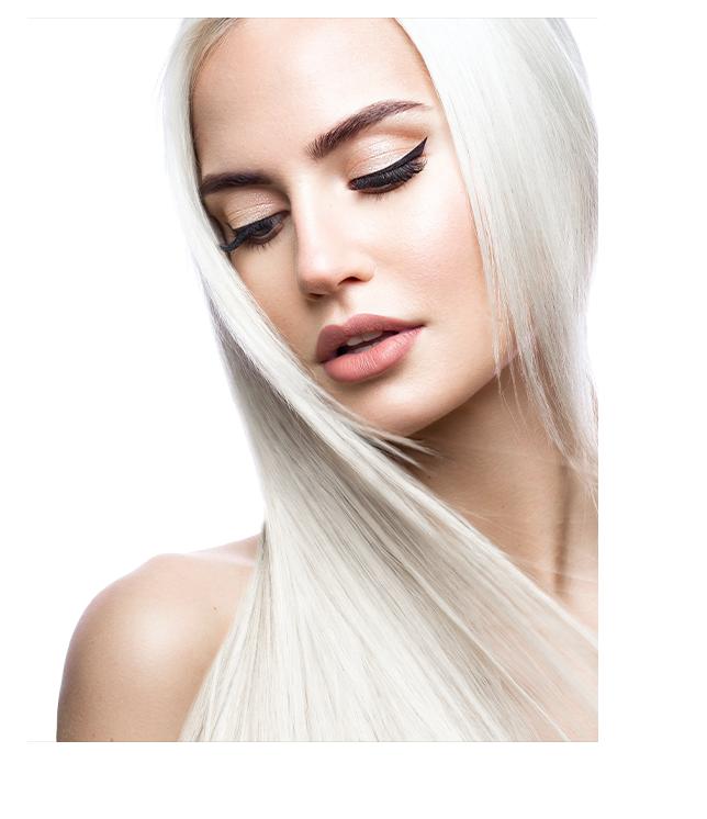 Long hair blonde woman